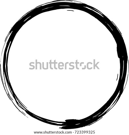 Vector grunge circle. Grunge round shape. #723399325