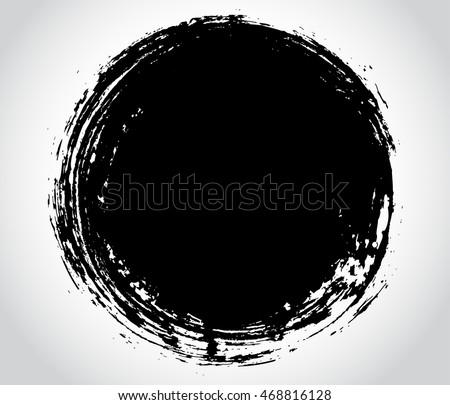 Vector grunge circle.Grunge round shape,banner. #468816128