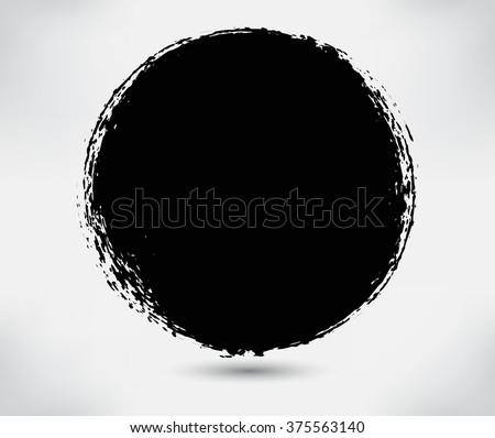 Vector grunge circle. Grunge round shape.Grunge banner.