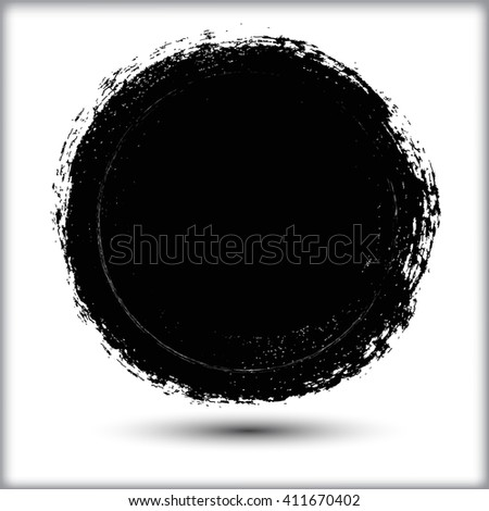 Vector grunge circle. Grunge round shape.Grunge banner. #411670402