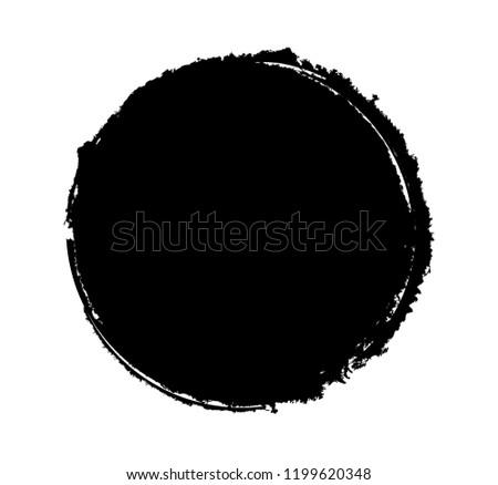 Vector grunge circle. Grunge round stamp. #1199620348