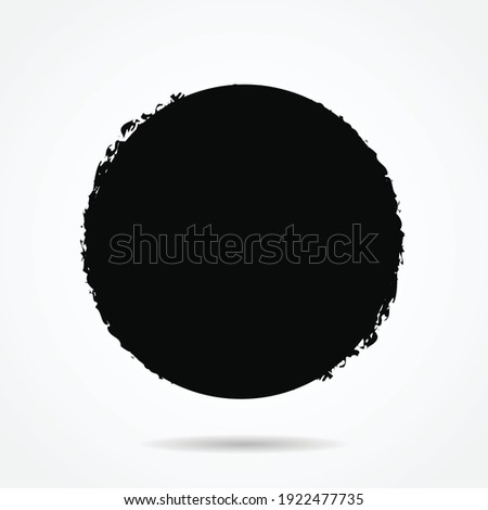 Vector grunge circle version 31 with simple style, grunge round shape, grunge banner - Color circle brush stroke with black color isolated on white background, Vector Illustration eps 10