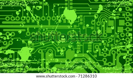 vector grunge circuit board. EPS10