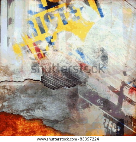 Vector grunge color background, abstract illustration