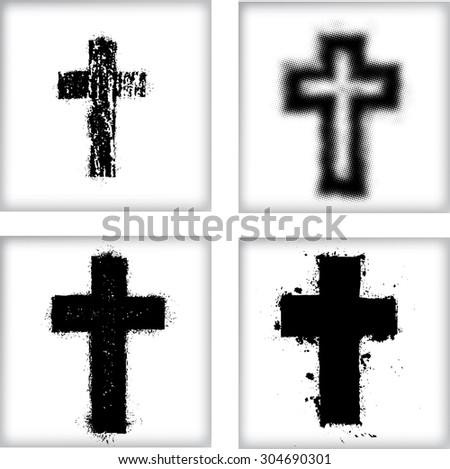 vector grunge cross