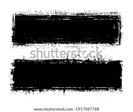 Vector grunge distressed black banners.