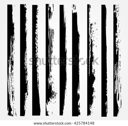 Vector grunge edges.Grunge borders design template.