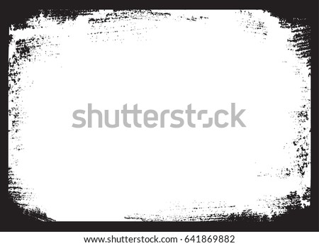Vector grunge frame.Distress border frame. #641869882