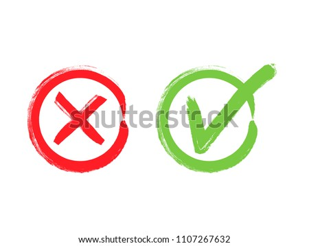 check marks tick and cross download free vector art stock