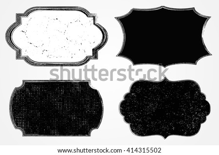Vector Grunge LabelDistressed FrameVintage Badges