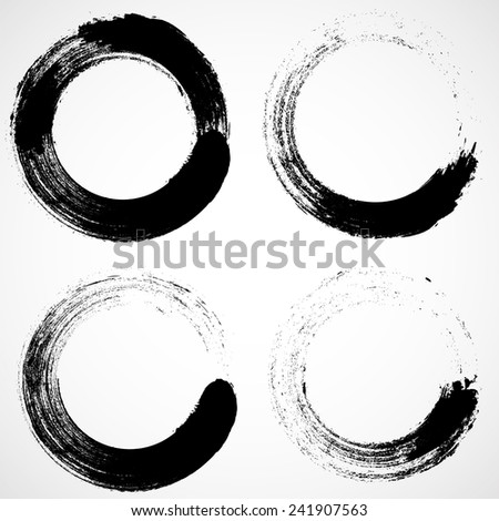 Vector Grunge Logo Design Template . Spiral Shape Cycle Creative Symbols . Wave Icon Collection .