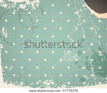 Vector grunge retro vintage background with place for your text