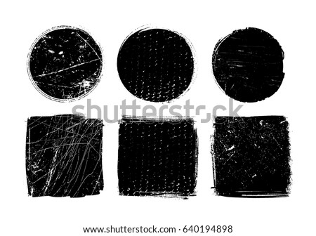 Vector grunge shapes.Grunge design elements. #640194898