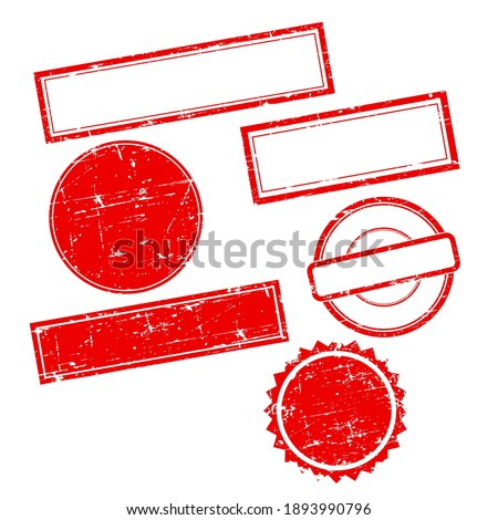 Vector grunge Stamps without text. Set of Stamps.