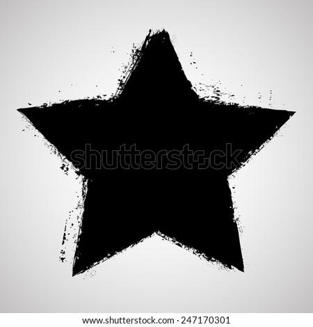vector grunge star  distressed