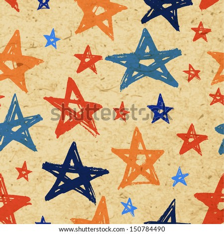 Vector grunge stars background