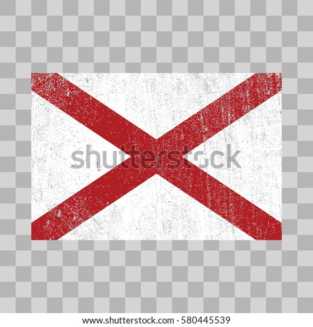 vector grunge styled flag of Alabama. State of the United States