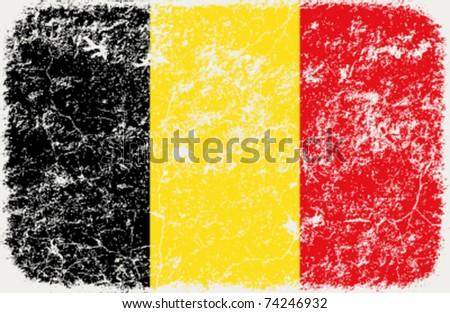 vector grunge styled flag of belgium