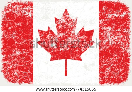 vector grunge styled flag of Canada