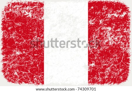 vector grunge styled flag of peru
