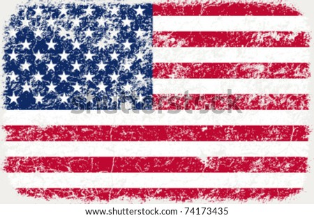 vector grunge styled flag of usa