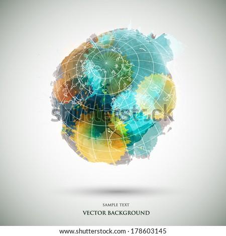 vector grunge watercolor