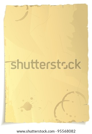 Vector grungy old paper - stock vector