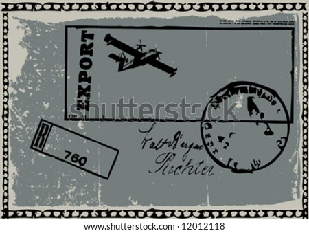 vector grungy post-card design