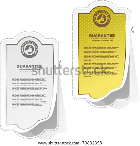Vector guarantee sticker set.
