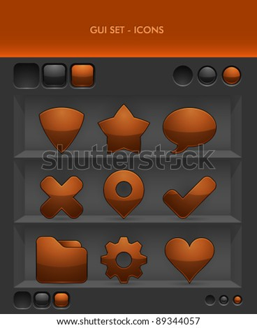 Vector GUI Set - Icons