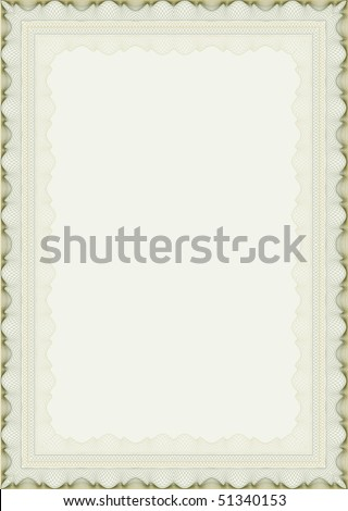 vector guilloche border for certificate