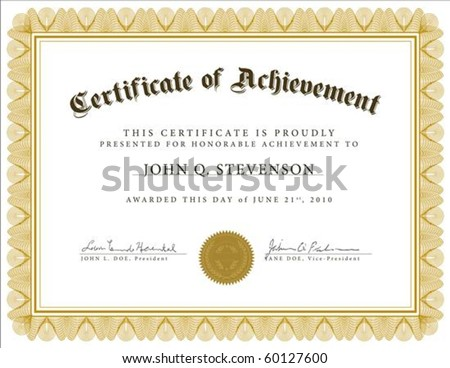 Vector guilloche certificate. Easy to edit and change colors.