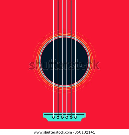 vector guitar flat style