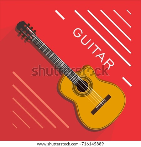 Vector guitar musical instrument for Jazz festival ,other event or concert