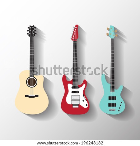 Shutterstock Vector guitars set