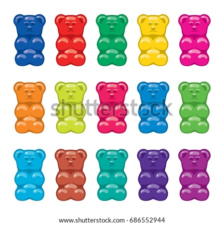 vector gummy bear candies