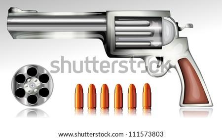Vector gun and bullet eps10