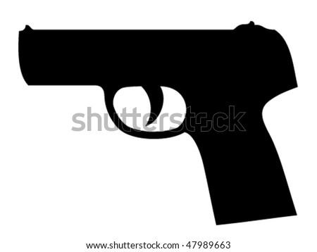 vector gun silhouette