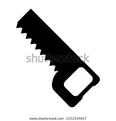 Vector hacksaw icon in trendy flat style, isolated on white background, for website design, app, logo, user interface.