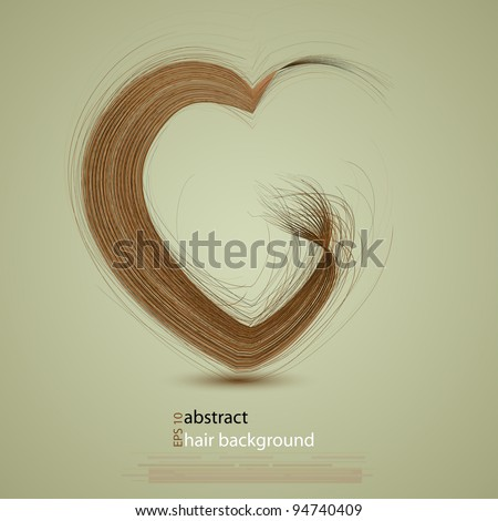 vector hair in the shape of a