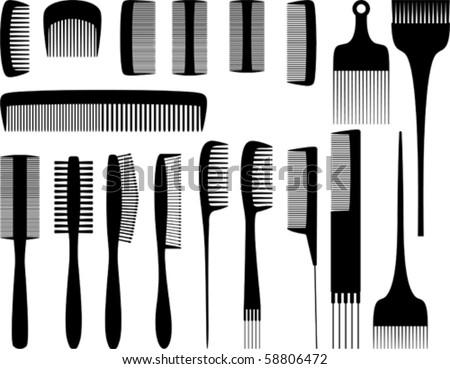 Vector hairdresser tools 1
