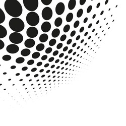 Vector halftone dots. Abstract dotted background.