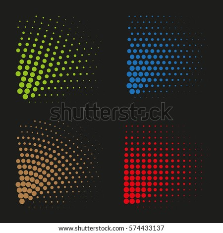 Vector halftone dots. Abstract dotted background. #574433137