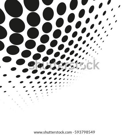 vector halftone dots abstract