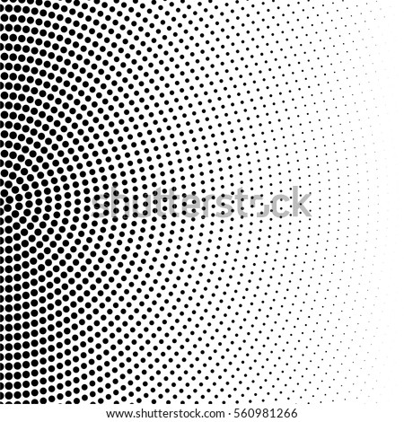 Vector halftone dots. Black dots on white background.