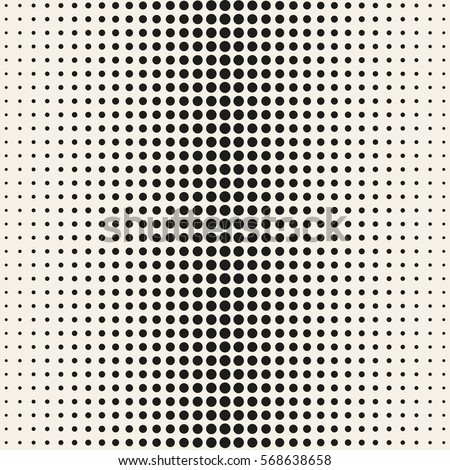 Vector halftone dots. Black dots on white background. Vector seamless pattern EPS 10