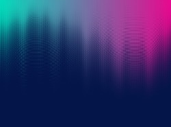 Vector halftone gradient effect. Vibrant abstract background. Retro 80's style colors and textures.