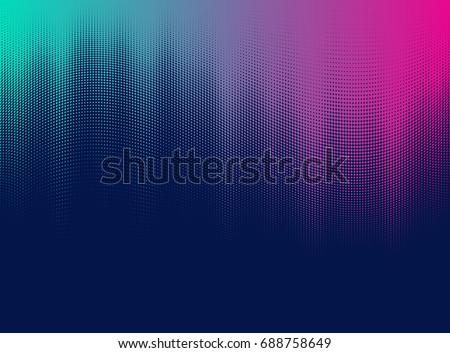 vector halftone gradient effect