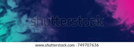 vector halftone smoke effect