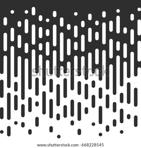 Vector Halftone Transition Abstract Wallpaper Pattern. Seamless Black And White Irregular Rounded Lines Background for modern flat web site design.